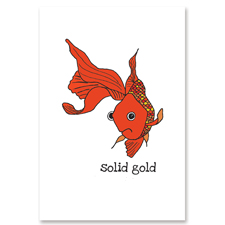 The brush mallett greeting cards paper goods for Solid gold fish